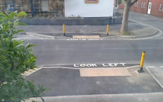 Hampshire road workers can't tell left from right
