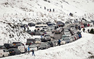 Snow-loving families have parked cars ticketed in Wales
