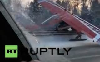 Plane makes emergency landing on Moscow motorway
