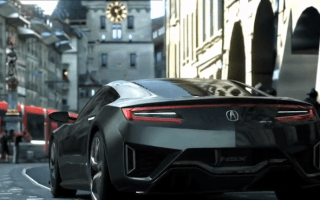 Upcoming Honda NSX takes to the track... sort of