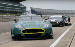 Watch a super-rare Aston Martin DBR9 GT1 rocket around Rockingham