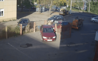 Machinery driver causes chain reaction crash in car park