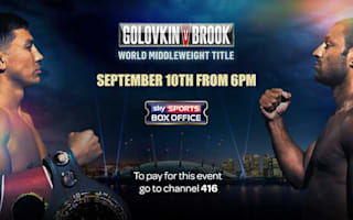 Watch Brook v Golovkin on Sky Sports Box Office with TalkTalk