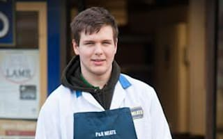 Apprentice butcher back at work a month after losing hand