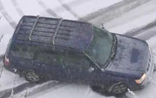 Video: Snow + ice + Seattle drivers = mayhem