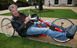 Shock, horror... Clarkson rides a bicycle!