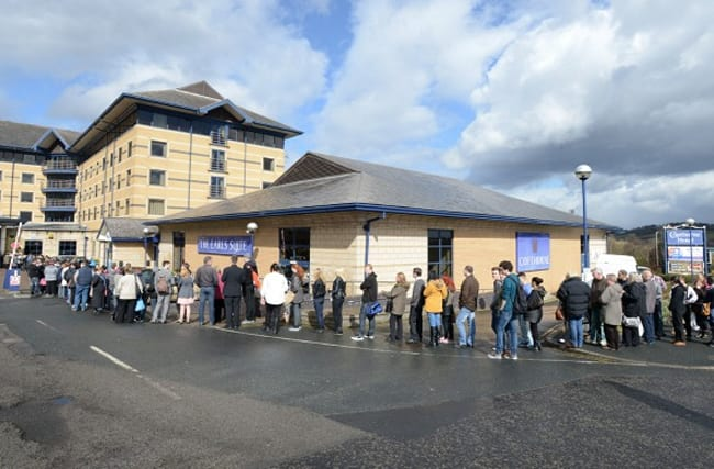 Three-hour queue for 1,500 candidates for just 40 Aldi jobs