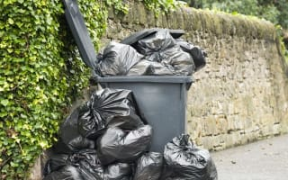 Bins won't be collected for up to a month over Christmas
