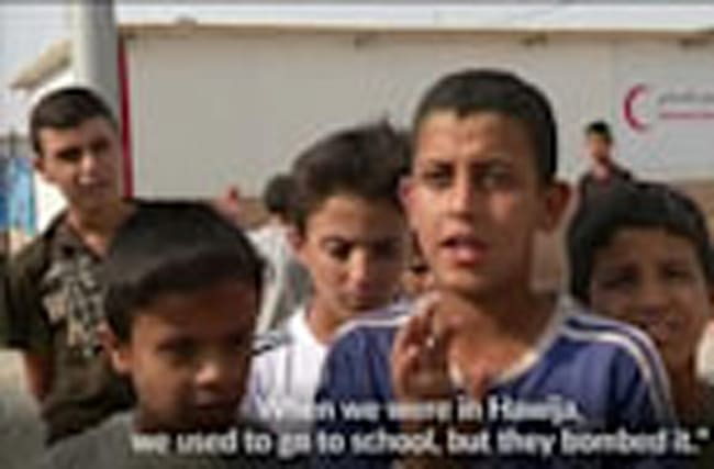 In Iraqi refugee camp, children yearn for an education