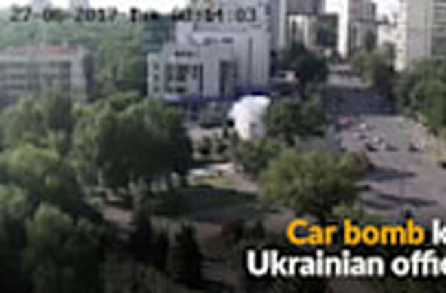 Car bomb kills Ukrainian military official