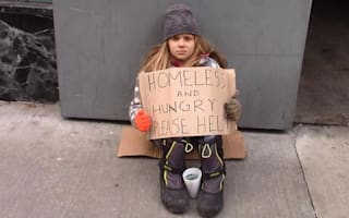 Social experiment: Would you help a homeless child?