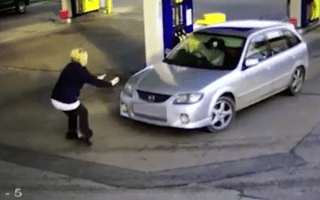 Petrol station worker hit by car while trying to stop fuel thief