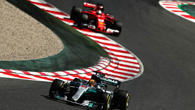 Lewis Hamilton wins the Spanish Formula One Grand Prix, Vettel second
