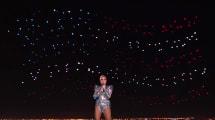 Lady Gaga deslumbró con su escuadrón de 300 drones en la Super Bowl