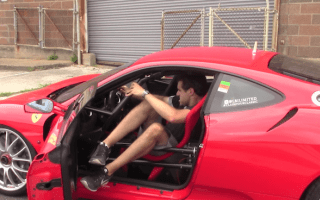 Man finds out that driving a Ferrari race car on the road is 'horrible'