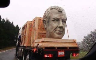 Jeremy Clarkson's massive head is being wheeled around America right now