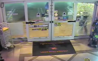 CCTV shows moment burglars fail to break into store