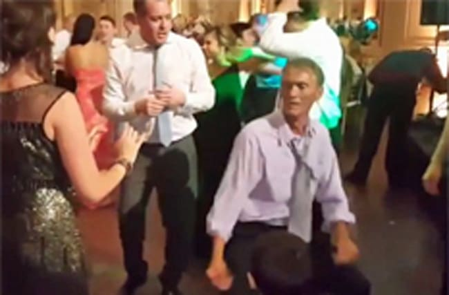 Man dances enthusiastically at wedding&#x3B; stuns other guests