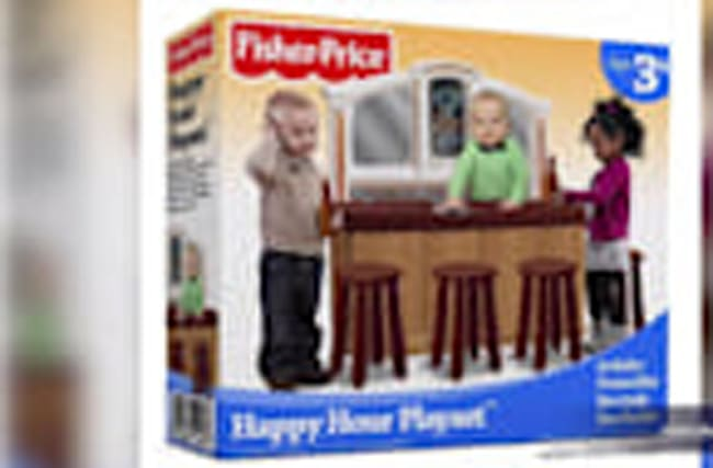 "Fisher-Price is Forced to Disown the Fake ""Happy Hour Bar"" Playset"