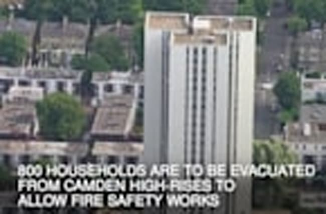 800 households to be evacuated from Camden high-rises to allow fire safety works