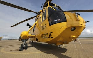 RAF helicopter rescues man stuck in a bush