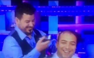 Mido shaves head live on air after losing Leicester bet