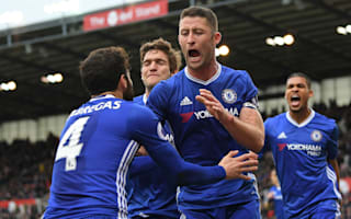 Stoke City 1 Chelsea 2: Late Cahill strike sends Blues 13 points clear