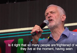 Jeremy Corbyn throws down election gauntlet to Theresa May in Glastonbury speech