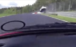 Renault flies into air after Nurburgring impact