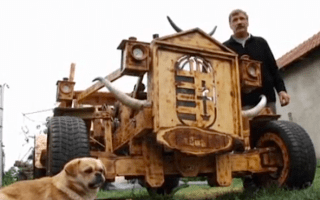 Wood you believe it? Man creates car from timber