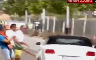 Video: Real Madrid fans kick out at Gareth Bale's car