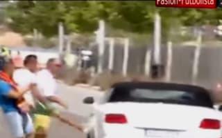 Video: Real Madrid fans kick out at Gareth Bale's car