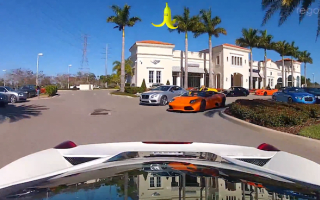 Supercar drivers bring Mario Kart to the road