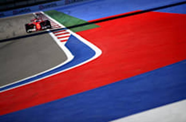 Who's on the front row at the Russian Grand Prix?