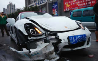 Woman totals brand new Porsche seconds after taking delivery
