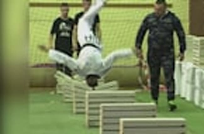 Teenager breaks World Record for crushing blocks with head