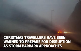 Storm Barbara set to spark Christmas chaos and power cuts