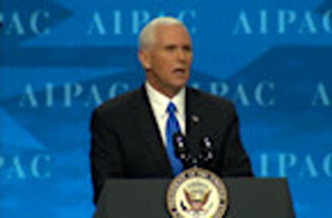 Pence vows U.S. loyalty to Israel during AIPAC speech