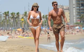 Amy Childs shows off newly-boosted bikini body in Barcelona
