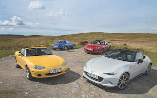 We drove all four Mazda MX-5 generations on Wales' glorious roads