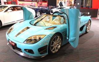 Bespoke sky-blue Koenigsegg CCXR up for grabs