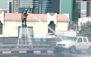 'Flying firefighters' in Dubai use jetpacks to tackle blazes