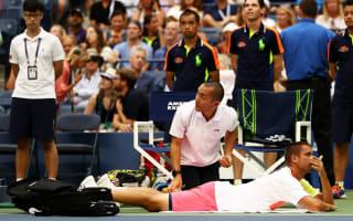 Djokovic through as Youzhny retires