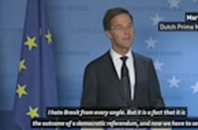 Dutch Prime Minister: 'I hate Brexit from every angle'
