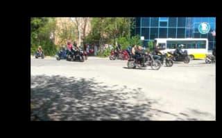 Driverless tram crashes into biker parade in Kazakhstan
