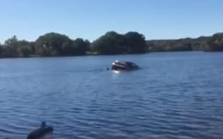 Dramatic rescue of woman in sinking car caught on camera