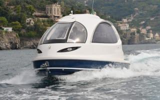 Amazing 'jet capsule' is a futuristic James Bond style yacht