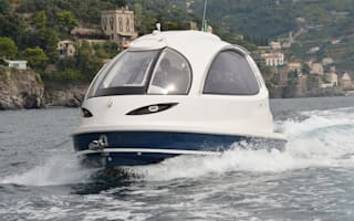 Amazing 'jet capsule' is a futuristic James Bond style yacht