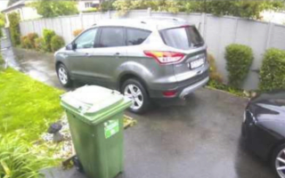 Unattended car rolls down driveway with child inside