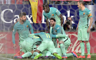 Atletico Madrid 1 Barcelona 2: Messi leaves it late again to stun hosts